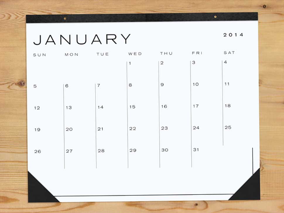 Our Guide To The Very Best 2014 Wall Calendars For Work & Home