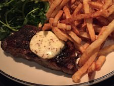 Steak Frites at Cafe Routier, Westbrook