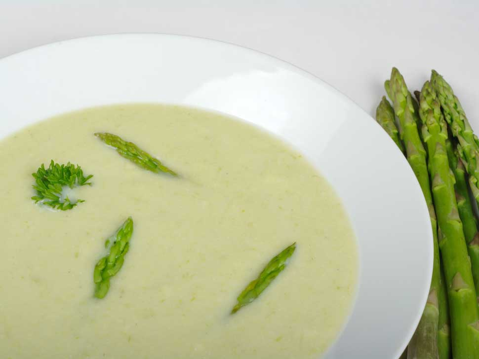 Gourmet Galley's Chilled Asparagus Soup | the-e-list