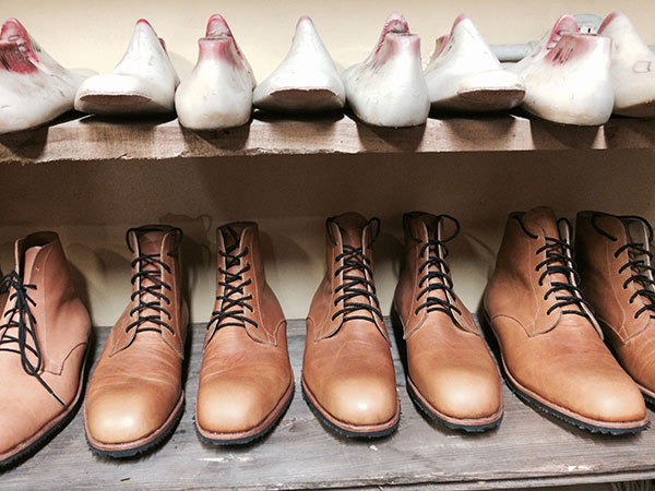 Handcrafted leather boots at HARDENCO
