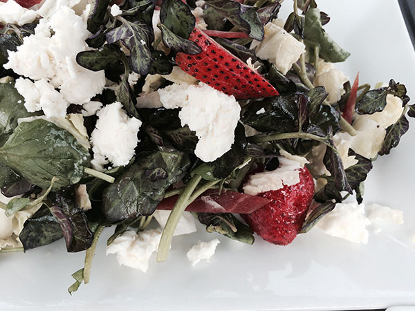 Watercress, Strawberry and Goat Cheese Salad at Nellie Green's, Branford
