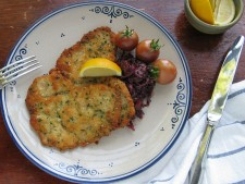 Pork Schnitzel With Apple Balsamic Red Cabbage
