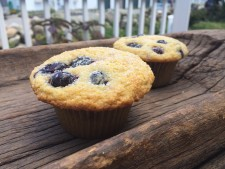 Blueberry Lemon Corn Muffins