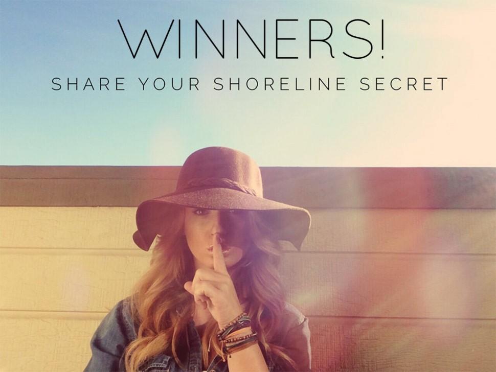 Shoreline Secret Winners