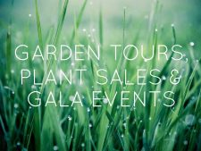 Garden Tours, Plant Sales and Gala Events