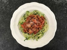 Sort Of Quick Bolognese and Zoodles