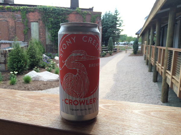 Stony Creek Brewery Crowler
