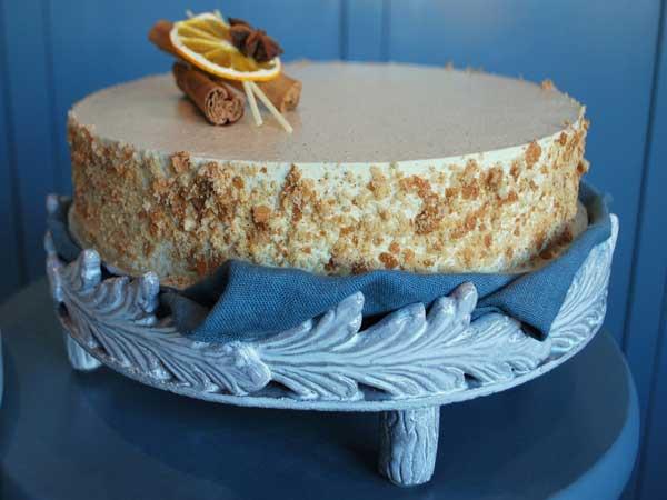 Spice Cake w/ Orange Marmalade & Grand Marnier Buttercream