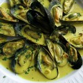 Mussels with Cream and Curry by Priscilla Martel