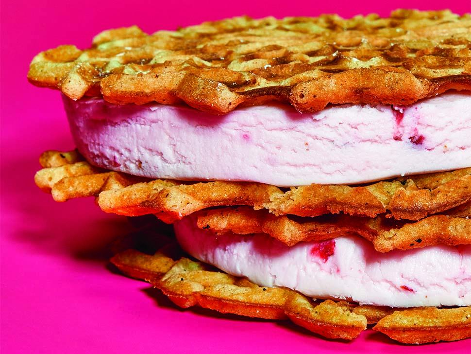 Dorie Greenspan's Buttermilk Strawberry Ice Cream