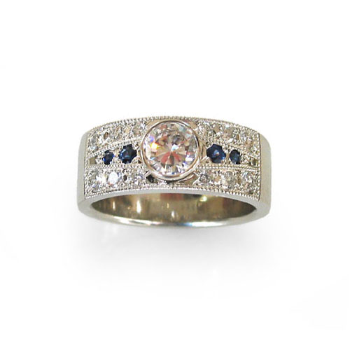 Deep River Custom Ring