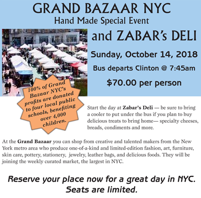 Clinton Chamber of Commerce's Bus Trip to NYC's Grand Bazaar