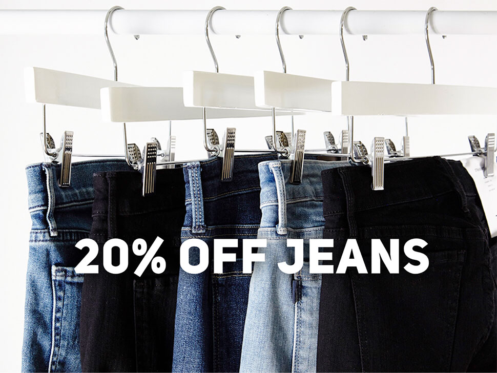 jeans 20% off