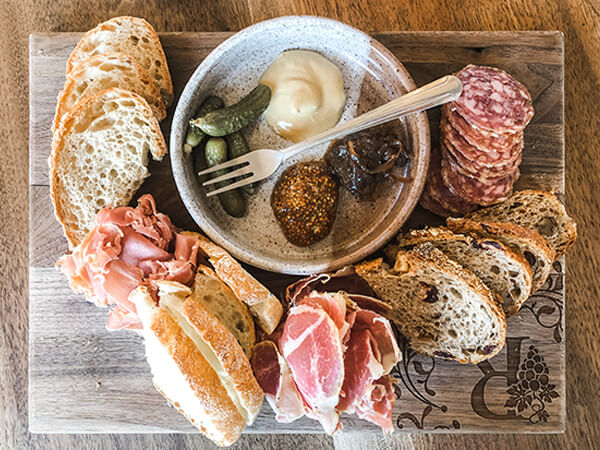rose winery charcuterie