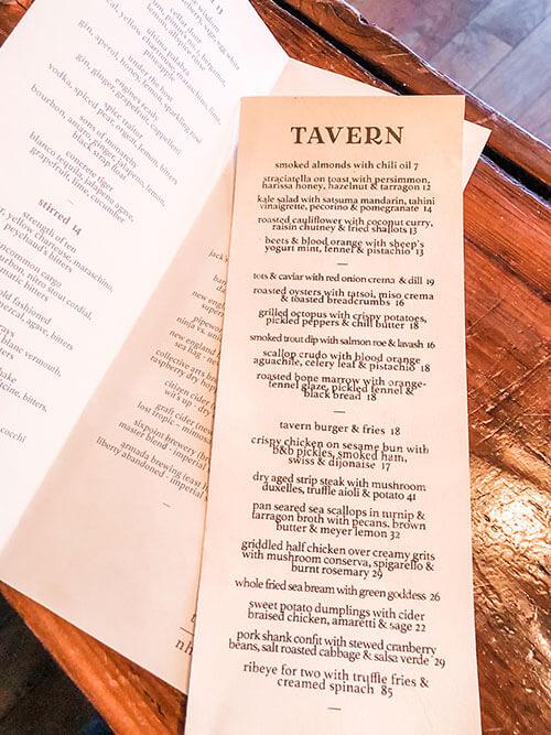 tavern on state new haven menu